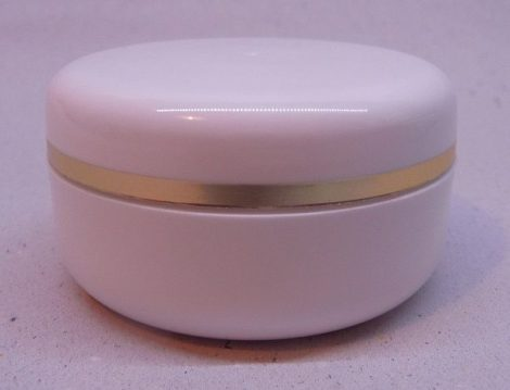 Kozmetikai tégely PP fehér arany dísszel 15ml
