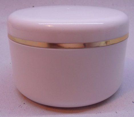 Kozmetikai tégely PP fehér arany dísszel 150ml
