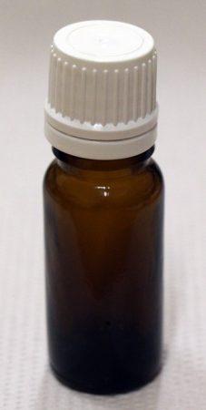 Patikai barna üveg 10ml-es cseppentős kupakkal (fehér)