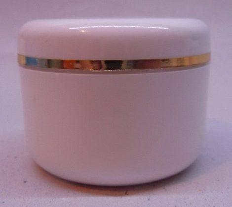Kozmetikai tégely PP fehér arany dísszel 50ml