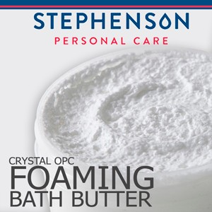 Melt & Pour szappanalap Stephenson OPC Habszappan alap (Crystal OPC Foaming Bath Butter) 1kg