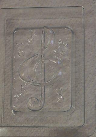 M&P szappanöntő forma violinkulcs-2 (szögletes)