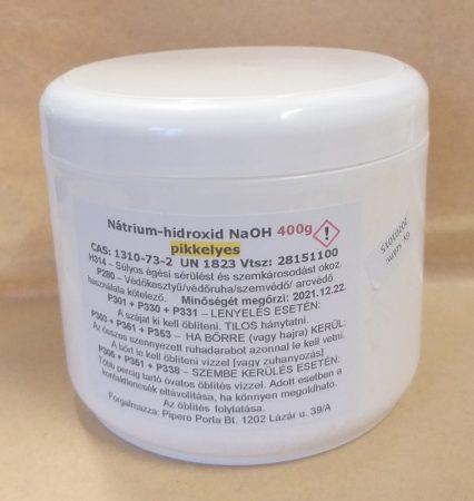 NaOH Nátrium hidroxid (pikkelyes) 400g