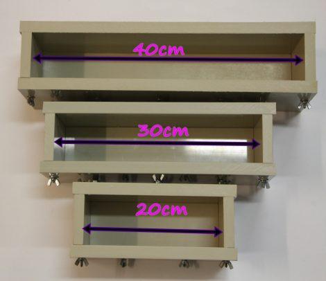 Szappanöntő forma PP típus 8,5cm széles x 7cm magas x 20cm hosszú