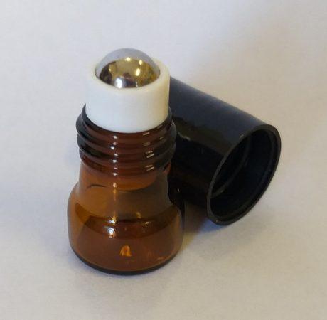 Roll-on barna üveg FÉM golyós 1ml