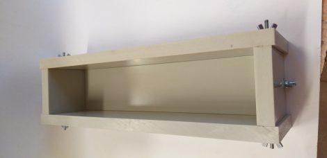 Szappanöntő forma PP típus 7cm széles x 7cm magas x 40cm hosszú