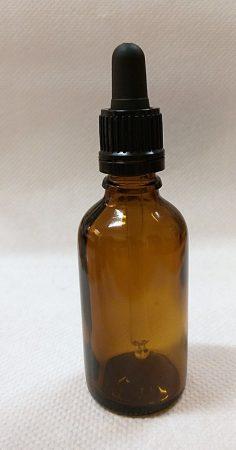 Patikai pipettás barna üveg 100ml-es (FEKETE)