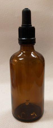 Patikai pipettás barna üveg 50ml-es (FEKETE)