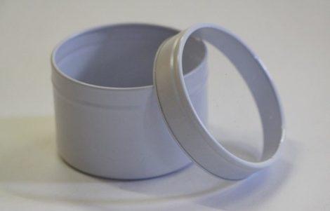 Alumínium tégely átlátszó tetővel 100ml (FEHÉR)