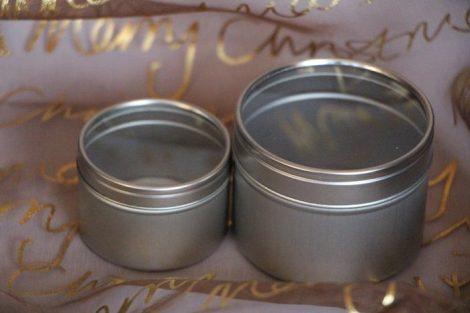 Alumínium tégely átlátszó tetővel 50ml (ezüst)