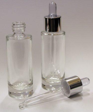 LRA átlátszó üveg + ezüst cseppentővel 30ml