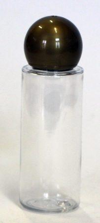 PET  víztiszta flakon 30ml-es Átlátszó- GÖMB kupakkal