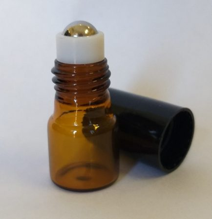 Roll-on barna üveg FÉM golyós 2ml