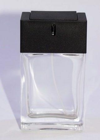Parfümadagoló szórófejjel átlátszó+fekete 50ml
