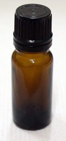 Patikai barna üveg 10ml-es cseppentős kupakkal (FEKETE)