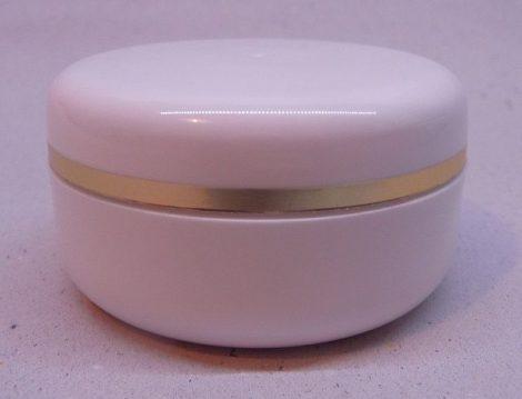 Kozmetikai tégely PP fehér arany dísszel 30ml