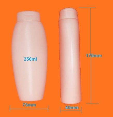 Kozmetikai flakon ovális 250ml