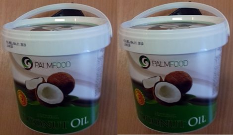 Kókuszolaj (kókuszzsír) nem hidrogénezett Vödrös 5l (2x 2,5l) (Palmfood)