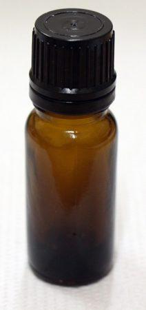 Patikai barna üveg 5ml-es cseppentős kupakkal (FEKETE)