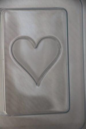 M&P szappanöntő forma kártya szív
