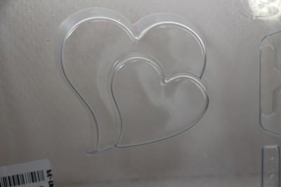 M&P szappanöntő forma dupla szív