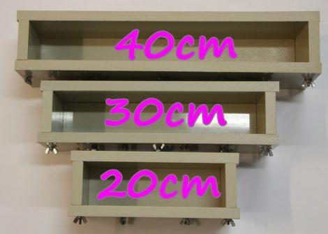 Szappanöntő forma PP típus 6cm széles x 9cm magas x 20cm hosszú