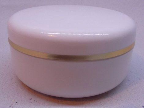 Kozmetikai tégely PP fehér arany dísszel 100ml
