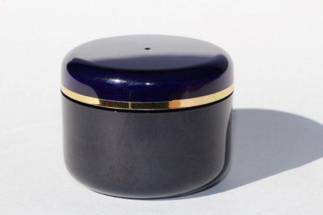 Kozmetikai tégely SAN KÉK arany dísszel 50ml