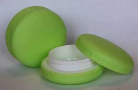 Ajakír tégely macaron zöld