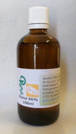 Gyógyszertári alkohol 96% (Etanol 96%) 100ml (Ph.Eur.9.0.)