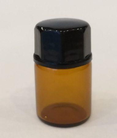 Patikai barna üveg 2ml-es cseppentős kupakkal (FEKETE)