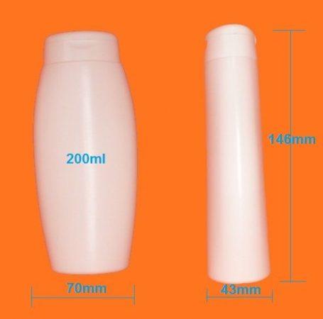 Kozmetikai flakon ovális 200ml